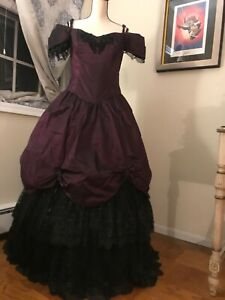 ball gown theater civil war masquerade party cosplay womens L purple