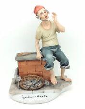 Capodimonte Porcelain Vintage Fisherman Selling Fish Primo Cliente Tyche Tosca