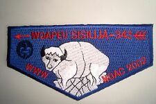 OA WOAPEU SISILIJA 343 SUSQUEHANNA COUNCIL PATCH BUFFALO W/ FACE NOAC 2002 FLAP