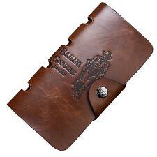 Men's Cowboy Vintage Genuine Leather Money Wallets Brown ID Credit Card Holder