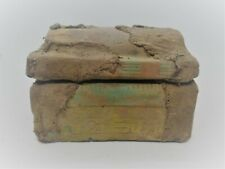 ANCIENT EGYPTIAN STONE CARVED SAFEBOX WITH HEIROGLYPHICS