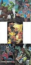 MARVEL MASTERPIECES 1992 SKYBOX COMPLETE DYNA ETCH INSERT CARD SET 1-D - 5-D