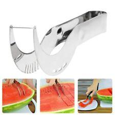 Watermelon Melon Slicer Server Knife Cutter Corer Scoop Stainless Steel Tool XG