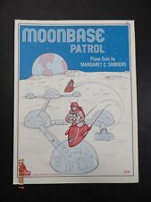 Moonbase Patrol Schaum Piano Sheet Music 1977 Margaret Sanders Vintage