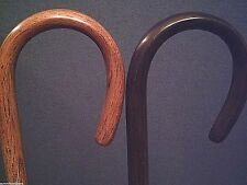 hickory walking stick cane steam bent handle solid stiff 2 colors to pick from