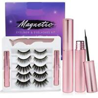 Natural Magnetic False Eyeliner Eyelashes Set With Reusable Lashes For Women