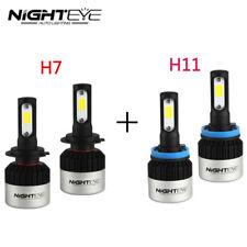 Nighteye H7+H11 Combo 144W 18000LM 6500K LED Headlight Bulbs Kit Super Bright