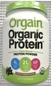 Orgain Organic Plant Based Protein Powder, Creamy Chocolate Fudge 1.02lbs  10/22