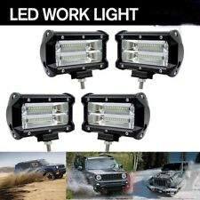 4x 5inch 72W Essgoo LED Work Light Bar SPOT Beam 2Row Offroad Car Driving Lamps