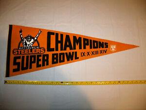 Pittsburgh Steelers Super Bowl Champions 1980 Pennant Full Size IX X XIII XIV