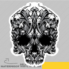 Floral Skull Vinyl Sticker Decal Window Car Van Bike 2676