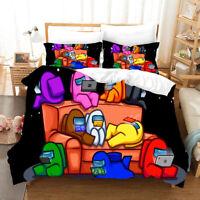 3D Among Us Bedding Set Doona Duvet Cover PillowCase Quilt Cover