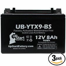 3x Battery for 1999 - 2012 Honda TRX400X, EX, Fourtrax, Sportrax 400CC