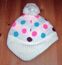 H&M Mädchen Strickmütze rosa oder weiß Gr. 98/104 oder 110/128
