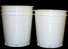 10 White Offering Buckets, Ice Buckets Holds 176 Ounces Mfg. USA Lead Free