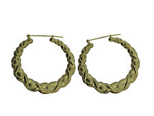 10KT Yellow Gold Hoop Earrings approx. gold wt. is 5.58 gms from BossManNYC
