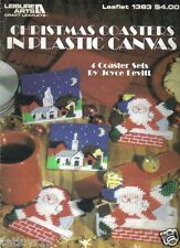 """Christmas Coasters""  ~  plastic canvas soft cover leaflet ~"