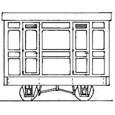 More details for oo9 / hoe freelance panelled 4-wheel 3rd class coach dundas dm75
