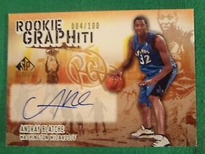 2006 ANDRAY BLATCHE SP SIGNATURE EDITION ROOKIE GRAPHITI AUTOGRAPHED CARD