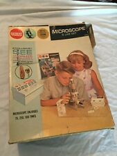 VINTAGE GILBERT Microscope & Lab Set Kit in Original Box COOL Science