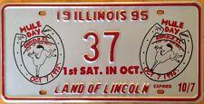 Illinois Mule Day license plate Donkey Animal Livestock Horse Riding Columbia TN