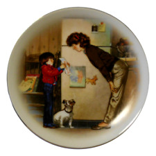 VINTAGE AVON 1985 Mother's Day Plate Special Memories Newsom Porcelain 22K Gold