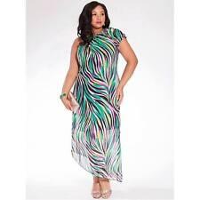 Chiffon Asymmetrical Hem Plus Size Dresses for Women