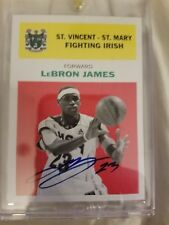 11-12 Fleer Retro Lebron James RC REPRINT On Card Autograph VERY RARE 1/1 ?