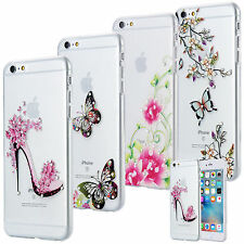 Slim Tpu Funda Strass Brillo Cover Gel Skin Transparente Transparente Apple Iphone