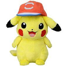 Pokemon Plush Doll Ash Ketchum's Pikachu (Alola Cap Ver) TAKARA TOMY NEW