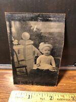 Antique Civil War Era Victorian Child Baby Tintype  Photo Photograph Vintage