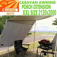 Caravan porch awning END WALL PREMIUM privacy 2120x2000 roof XXL 3yr  SCREEN
