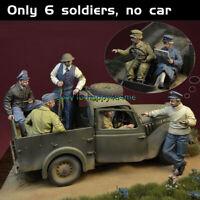 6pcs/set 1/35 Scale 6Soldiers Figure Model gk Unpainted Garage Kits Unassembled
