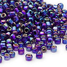 200 Cobalt Rainbow Silver Lined Matsuno 6/0 Glass Seed Beads Spacer Beads # 6