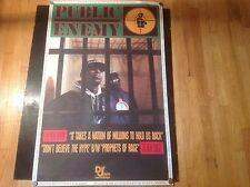 vintage public enemy 1988 in store promo rap poster