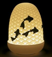 LLADRO PORCELAIN KOI DOME LAMP