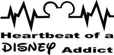 HeartBeat of a Disney Addict Sticker kids Sign Decal Car Cute Disney Newborn SUV