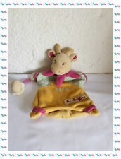 F - Doudou Semi Plat Marionnette Girafe Cali Baby Nat