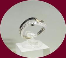 DAINTY 14K WHITE GOLD LOOPED DIAMOND BAND - SIZE 5