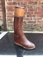 BRIQUET ANCIEN BOTTE CUIR Miniature - Vintage Lighter Leather Boot XX