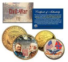 American CIVIL WAR *150th Anniversary* 24K Gold U.S. Legal Tender 2-Coin Set