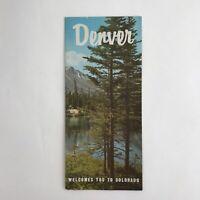 Vintage Travel Brochure Denver Colorado CO Advertising Rockies Pikes Peak Parks