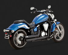 Yamaha XVS 1300 Custom (Stryker) Twin Slash Negro Escape: Vance and Hines 48501