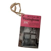 Westinghouse 191 AM FM Radio Phonograph Specifications Features Paper Booklet