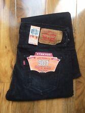 Levi's 501 Original Fit Jeans Stretch 31x30 noir neuf avec étiquettes libre p&p 2