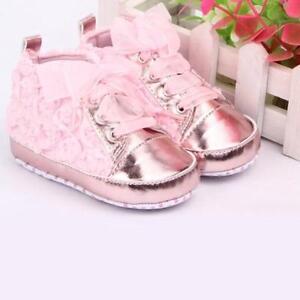 Rubber Outsole Prewalker Toddler Shoes Flower Design Lace Up Closure Anti Slips