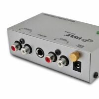 PYLE Audio Converter Mini Amplifier Audio Turntable Phono Preamp Sound System