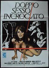 manifesto 2FG DOPPIO SESSO INCROCIATO HUDSON  CASTELLS LAURA LEVI EROTICO SEXY
