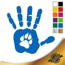 Aufkleber Sticker Autoaufkleber Handabdruck Pfotenabdruck Hund 10 x 10 cm