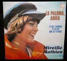 MIREILLE MATHIEU - LA PALOMA ADIEU - '73 FRENCH PRESS/RARE PAPER PIC SLEEVE/EX+